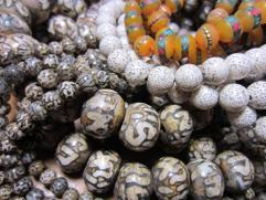 Carved Conch, Lotus Seed Malas