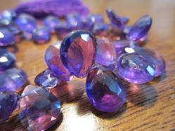 Amethyst Faceted Tears